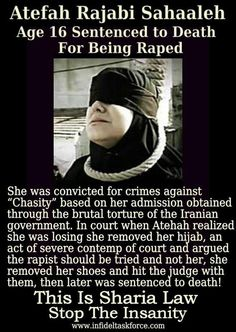 Rape victim sentenced to death under Shari'a Law. This is terrible