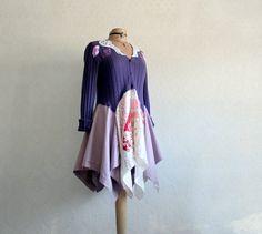 Women's Wear Purple Tunic Lagenlook Sweater by BrokenGhostClothing, $74.00