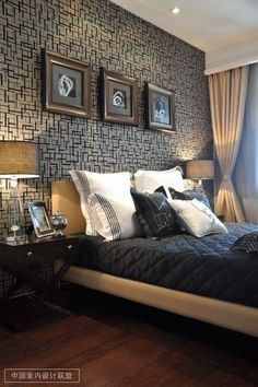 Classic but modern bedroom