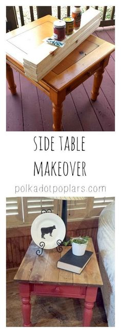 Take an old table and give it a makeover farmhouse style.