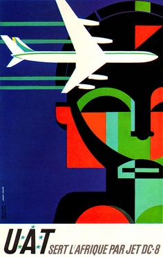 1964 ... go to Africa on a DC-8 jet! by x-ray delta one, via Flickr