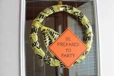 Anika's Polka Dottery: TWO! - construction party wreath