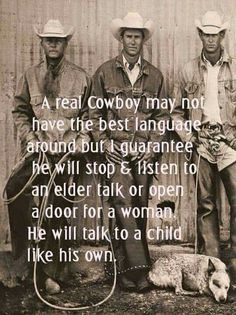 A real Cowboys. More A real Cowboys. Rodeo Quotes, Cowboy Quotes, Horse Quotes, Western Quotes, Cowboy Humor, Cowgirl Quote, Hunting Quotes, Life Quotes Love, Great Quotes