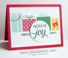 Quick VIDEO Tip: How to Make Plaid Present Birthday Card