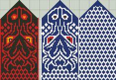 Knitting Charts, Knitting Stitches, Knitting Patterns Free, Free Knitting, Knitting Socks, Knitted Mittens Pattern, Knit Mittens, Mitten Gloves, Crochet Wrist Warmers