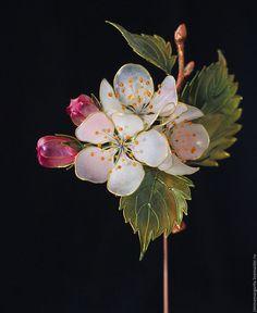 Wire Flowers, Plastic Flowers, Fabric Flowers, Resin Jewelry, Hair Jewelry, Jewelry Crafts, Jewellery, Nail Polish Flowers, Nail Polish Art