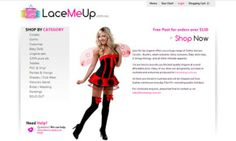 Lace Me Up – Ecommerce Website Design