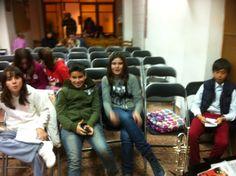 Aida, Juanvi, Núria i Daniel abans de l'audició (25-3-2013)