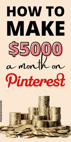 Learn how to make money on Pinterest with or without a blog. Make $5000 passive income every month with Pinterest while working from home. #makemoneyonpinterest #workfromhome Earn More Money, Make Money Fast, Make Money Blogging, Make Money From Home, Make Money Online, You Know Where, Online Jobs, Blog Tips, Extra Money