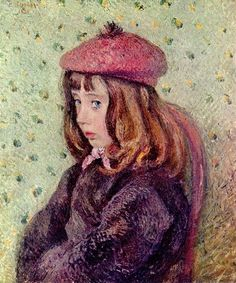 Felix Pissarro at the age of seven, as portrayed in 1887 by his father Camille Pissarro