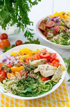 This Greek Zoodle Bowl recipe is a simple, easy summer meal that is ready in…
