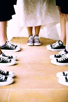 converse on the wedding day