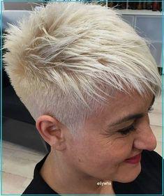 Funky Short Hair, Super Short Hair, Short Grey Hair, Short Hair Cuts For Women, Short Hair Styles, Short Spiky Hairstyles, Short Pixie Haircuts, Short Hairstyles For Women, Undercut Hairstyles