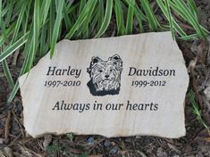 Medium Pet Memorial by MeadowCreekStones on Etsy, $45.00