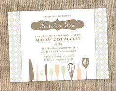 Kitchen Tea Invitation