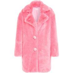 CABAN BONBON FAUX FUR ($690) ❤ liked on Polyvore featuring outerwear, coats, faux fur coats, fake fur coats, pink faux fur coat, pink coat y imitation fur coats
