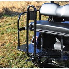 Collegiate Series - EZGO RXV - Golf Cart Seat embly: Memphis ... on suv trailer hitch rod holder, car rod holder, skiff rod holder, golf cart cup holder, fishing cart rod holder, garage rod holder, vehicle rod holder,