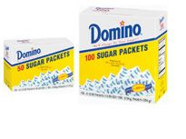 Sugar Packets    Each packet contains one portion of 100% pure Superfine Granulated Sugar. At home, at work, or on the go, Domino® Sugar Packets are always neat and convenient.  Sugar Packets    Available Sizes:  50 count box  100 count box