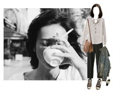 """""""coffee time"""" by dreamermuser ❤ liked on Polyvore featuring Thomas Sabo, Converse, Chanel, ASOS, Coach and OMEGA"""