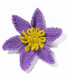 Knit Flower: Clematis