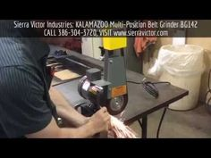 kalamazoo belt grinder. available at sierra victor industries: 1\ kalamazoo belt grinder