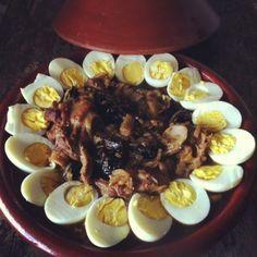 La recette du traditionnel tajine d'agneau aux pruneaux