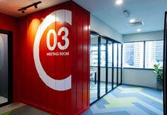 AJM Interiors recently completed the offices for recruitment agency Interisland Manpower, located in Kuala Lumpur, Malaysia. Interisland Manpower PTE LTD Recruitment Agencies, Workplace Design, Kuala Lumpur, Close Image, Downlights, The Office, Offices, Interior, Arrow Keys