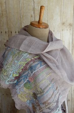 """Wild Plants""Scarf – French Needlework Kits, Cross Stitch, Embroidery, Sophie Digard – The French Needle"