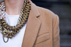 Diy necklace idea. Mixed chains with beads