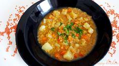Супа от червена белена леща и картофи - Ricetta e preparazione: cucina salutare e vegetariana - Tony's Happy Kitchen