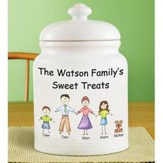 Gift Idea: Personalized Friendly Family Characters Cookie Jar