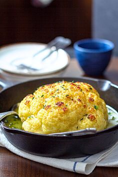 A roasted cauliflower recipe you can make in a blink. For a lovely light main course, or a gorgeous side, this is your new favorite way to eat cauliflower! Crisp, tender, and SO delicious! Vegetable Side Dishes, Vegetable Recipes, Vegetarian Recipes, Cooking Recipes, Healthy Recipes, Whole Roasted Cauliflower, Cauliflower Recipes, Vegetarian Main Course, Butter Sauce
