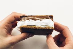 Nutella Peanut Butter S'more. Yes it's a thing and yes it's amazing.