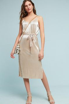 Slide View: 3: Metallic Slip Dress