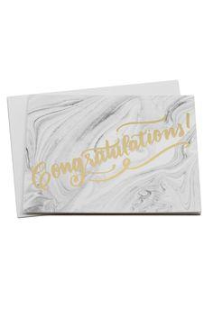 Congrats Marbled Card | Moorea Seal