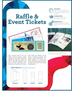 Do you need personalized raffle and event tickets?