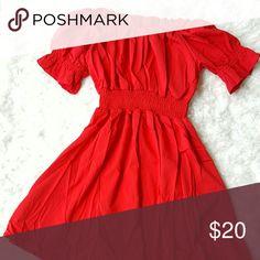 Off The Shoulder Dress Red off-the-shoulder dress XXFS  Dresses