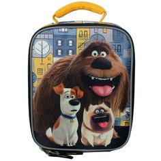 The secret life of pets dog day lunch box features Duke, Max and Mel. This lunch is insulated to keep all food fresh and contains a padded…