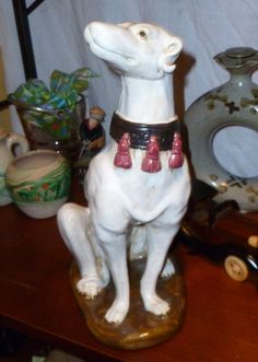 DESIGNER GREYHOUND POTTERY STATUE