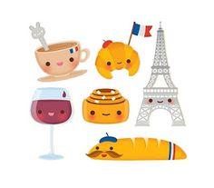 dibujitos divertidos de francia