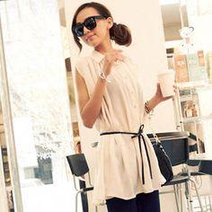 YesStyle Pleated Sleeveless Shirtdress