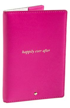 kate spade new york 'wedding belles - happily ever after' passport cover available at #Nordstrom