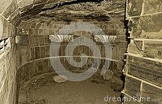 An underground world war 11 bunker built from concrete and bricks.