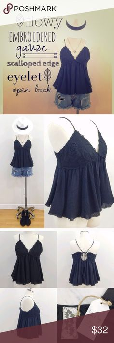 Black Tank Top Adorable tank top that I bought from another posher. Just simply doesn't fit ☹️ Offers are always accepted!    *Photos are not mine* Sadie & Sage Tops Tank Tops