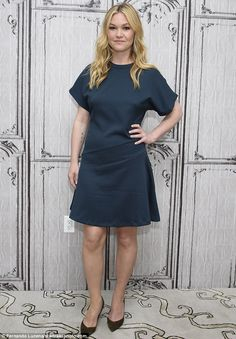 Looking lean: Julia Stiles put her toned legs on display as she attended an AOL Build Speaker Series for her upcoming movie Jason Bourne on Tuesday in NYC