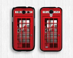 red GALAXY Note3 casetelephone booth  GALAXY by FindPhonecase, $10.99