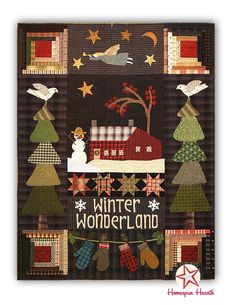 Winter Wonderland Wool Applique quilt by Norma Whaley