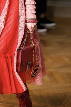 Detail bag of Maison Valentino yesterday night at Paris