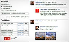 How to Generate RSS Feeds of Google Plus Profiles