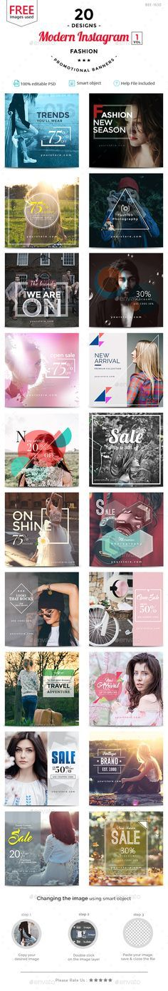 Fashion Sale Instagram Templates - 20 Designs